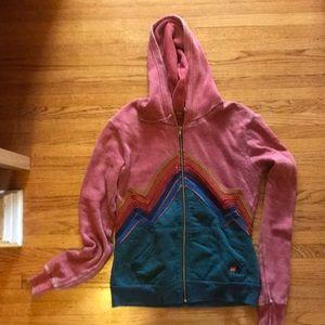 Aviator Nation mountain appliqué hoodie
